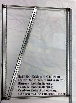 HZ1BBQ Grillrost fester Rahmen aus V2A Edelstahl Komplett-Bausatz
