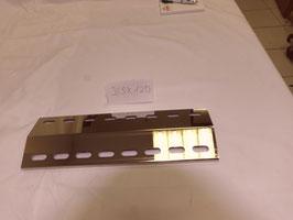 8 Stück 365mm x 120mmk V4A Spiegel poliert Edelstahl Flammenverteiler