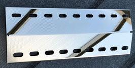 365 mm x 90 mm Spiegel poliert V4A Edelstahl Flammenverteiler
