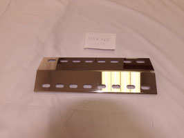 335 mm x 120 mm x 1mm V4A Edelstahl Premium Spiegel Flammenverteiler
