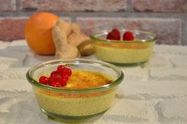 Crème Brûlée von Orange und Ingwer