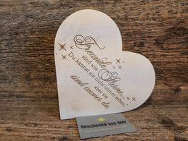 Freunde sind wie Sterne... | Herz aus Holz | eingravierter Spruch | Holzherz | Geschenk