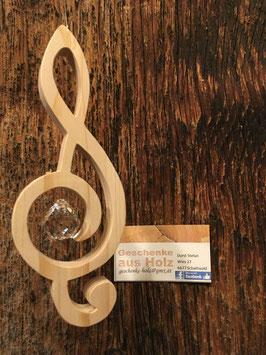 Notenschlüssel aus Holz