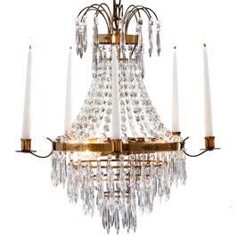 Gustaviansker Leuchter, bronziertes Messing