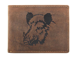 Greenburry Herrenportemonnaie mit Wildschwein Prägung