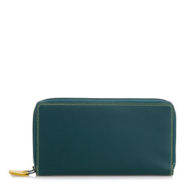 375-105 Large Double Zip Around Purse - Evergreen