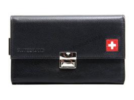 Serviceportemonnaie - Schwarz mit Schweizerkreuz