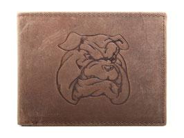 Portemonnaie mit Bulldogge Prägung