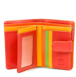 390-12 Medium 10 C/C Wallet w/Zip Purse - Jamaica