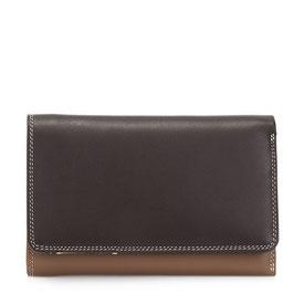 363-128 Medium Tri-fold Wallet w/Outer Zip Purse - Mocha