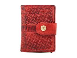 Cardprotector mit Rv-Münzfach und Aussenlasche - Rot