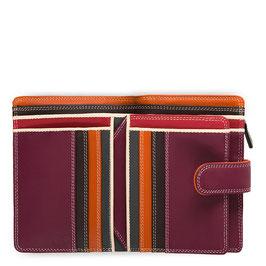 390-136 Medium 10 C/C Wallet w/Zip Purse - Chianti