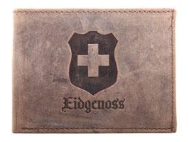 Portemonnaie mit Schweizerkreuz und Eidgenoss Prägung