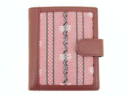 Portemonnaie mit Edelweiss Stoff - Rot