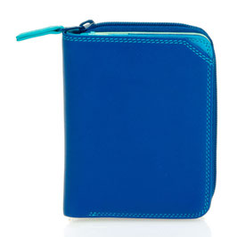 226-92 Small Wallet with Zipround Purse - Seascape