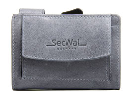 SecWal Kreditkartenetui - Vintage Grau