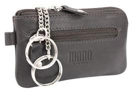 "Mano ""Satura"" - Flaches Schlüsseletui mit 2 Ringen - Dunkelbraun"