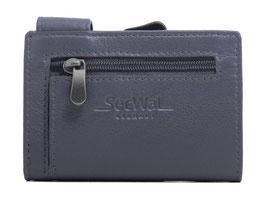 SecWal Kreditkartenetui mit Reisverschluss-Münzfach - Dunkelblau