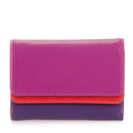 250-75 Double Flap Purse / Wallet - Sangria