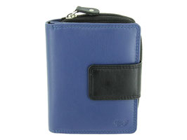 Damenportemonnaie mit Reissverschluss-Münzfach Nr.3542 - Blau-Schwarz