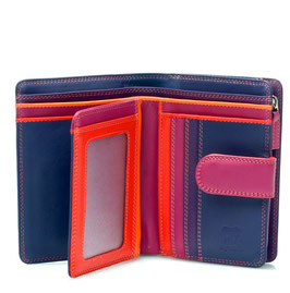 390-75 Medium 10 C/C Wallet w/Zip Purse - Sangria