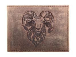 Portemonnaie mit Schaafbock Prägung