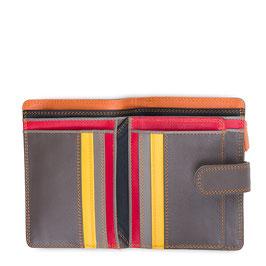 390-164 Medium 10 C/C Wallet w/Zip Purse - Fumo
