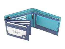 Portemonnaie Nr.3101 RFID - Blau-Petrol