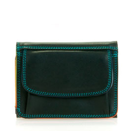 243-4 Small Tri-Fold Wallet - Black/Pace