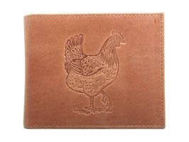 EMME Leder - Portemonnaie mit Huhn Prägung