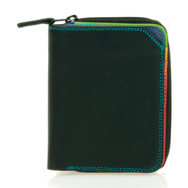 226-4 Small Wallet with Zipround Purse - Black/Pace