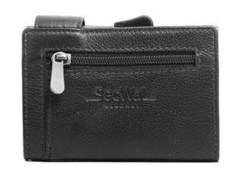 SecWal Kreditkartenetui mit Reisverschluss-Münzfach - Schwarz