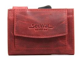 SecWal Kreditkartenetui - Hunter Rot