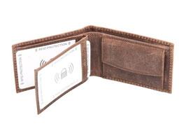 Mini Herrenportemonnaie Nr.1032 RFID - Antikbraun