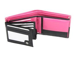 Portemonnaie Nr.3101 - Schwarz / Pink