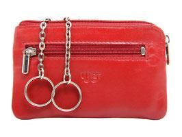 Grosses Schlüsseletui mit Reisverschluss Nr.5110 - Rot