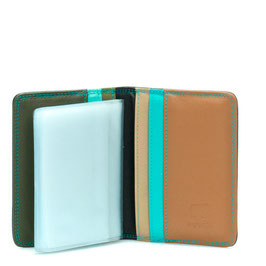 131-85 Credit Card Holder w/Plastic Inserts - Chocolat Mousse