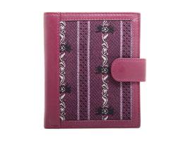 Portemonnaie mit Edelweiss Stoff - Fuchsia