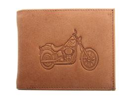 EMME Leder - Portemonnaie mit Motorrad Prägung