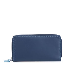 375-127 Large Double Zip Around Purse - Royal