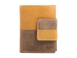 Damenportemonnaie Nr.3401 RFID - Antikbraun-Tan