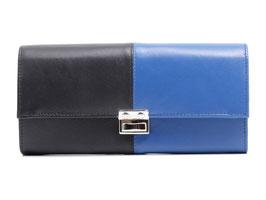 Serviceportemonnaie Zweifarbig Blau-Schwarz