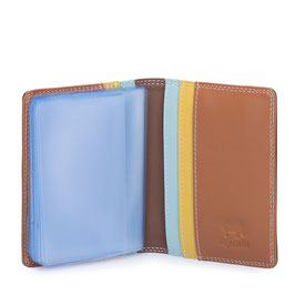 131-128 Credit Card Holder w/Plastic Inserts - Mocha