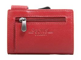 SecWal Kreditkartenetui mit Reisverschluss-Münzfach - Rot