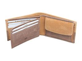 Mini Portemonnaie Nr.1033 - Antikbraun-Tan - RFID
