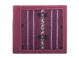 Portemonnaie mit Edelweiss Stoff - Querformat Fuchsia