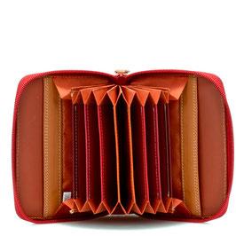 328-18 Zipped Credit Card Holder - Berry Blast