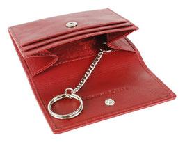 """Mano - """"Medio"""" - RFID Schlüsseletui mit 2 Kartenfächer - Rot"""