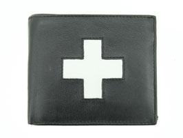 Portemonnaie Nr.3101 mit Schweizerkreuz - Schwarz
