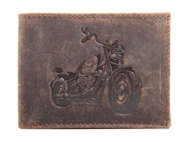 Portemonnaie mit Motorrad Prägung
